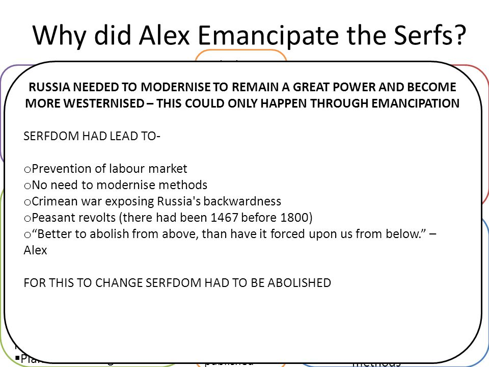 Why did Alex Emancipate the Serfs