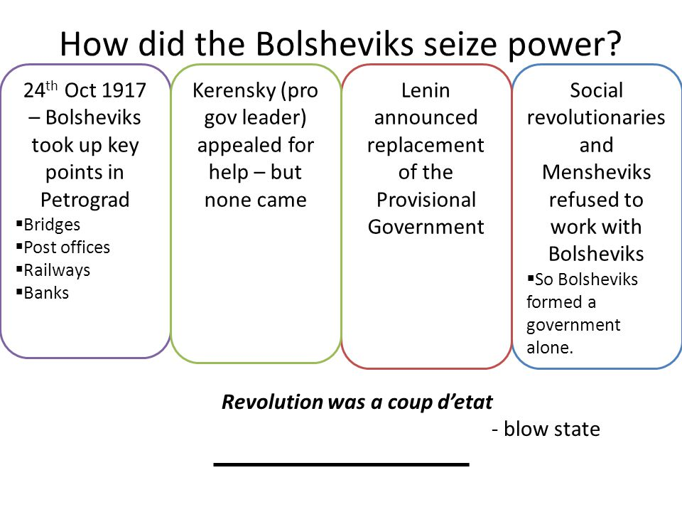 How did the Bolsheviks seize power