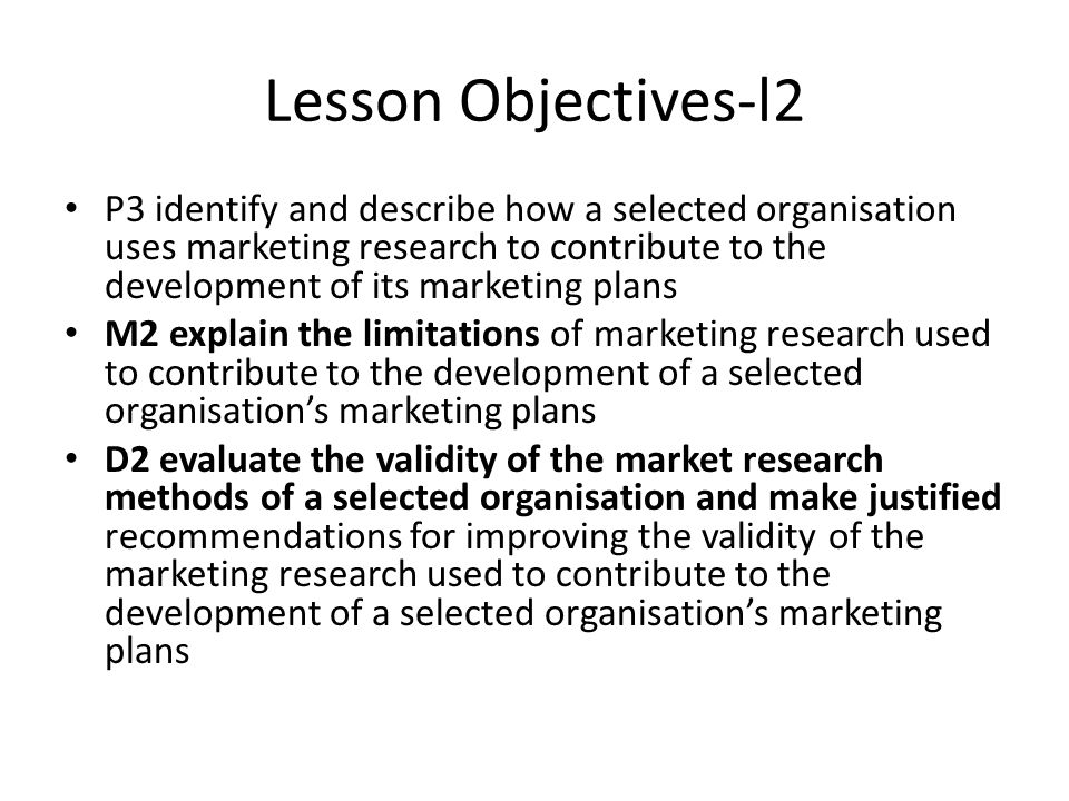 Lesson Objectives-l2