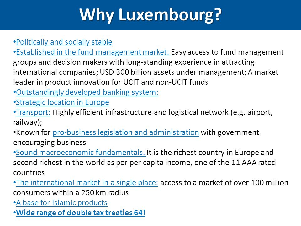 Why Luxembourg Politically and socially stable