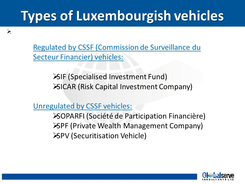 Types of Luxembourgish vehicles