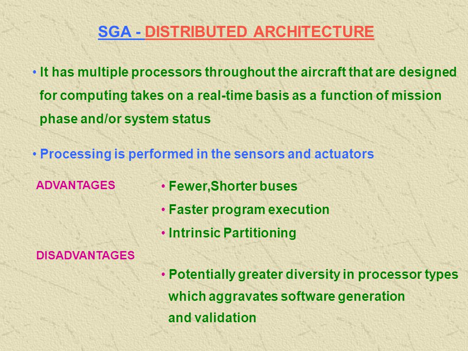 SGA - DISTRIBUTED ARCHITECTURE