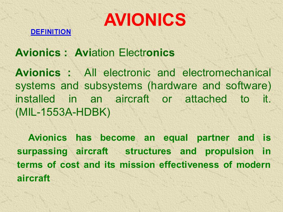 AVIONICS Avionics : Aviation Electronics