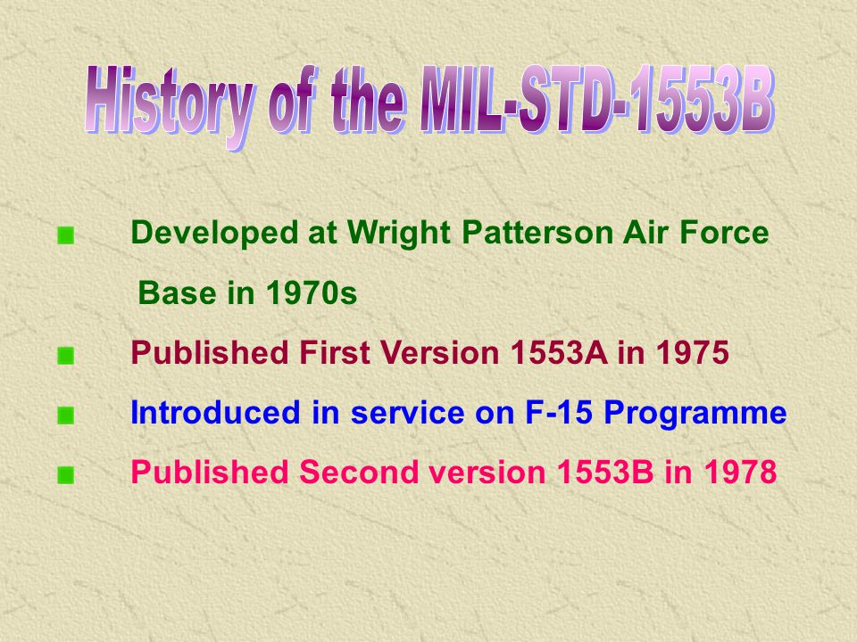 History of the MIL-STD-1553B