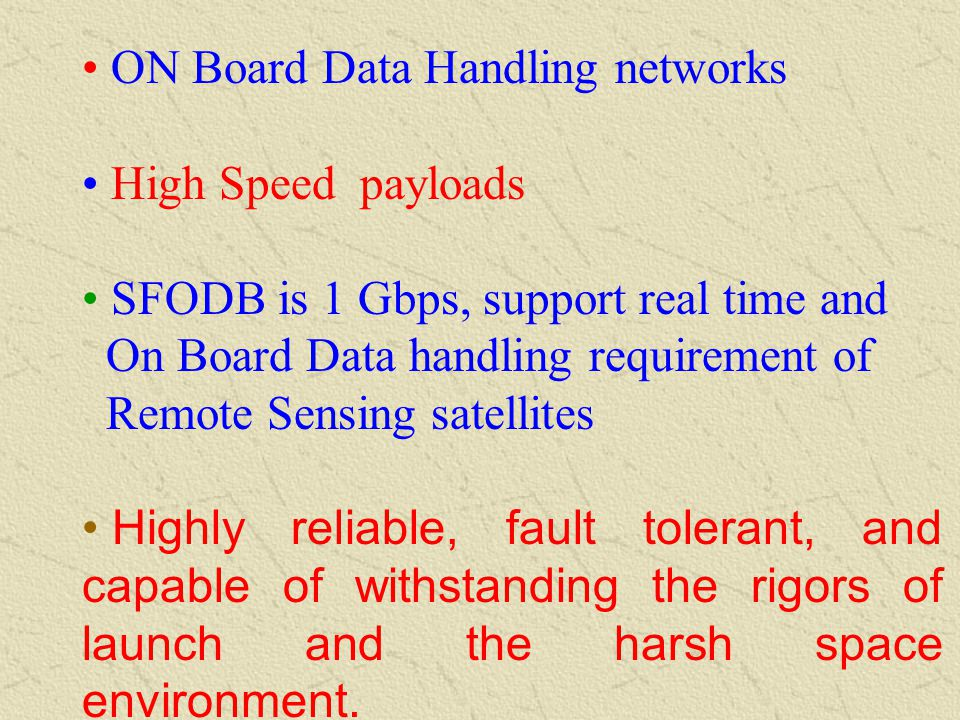 ON Board Data Handling networks