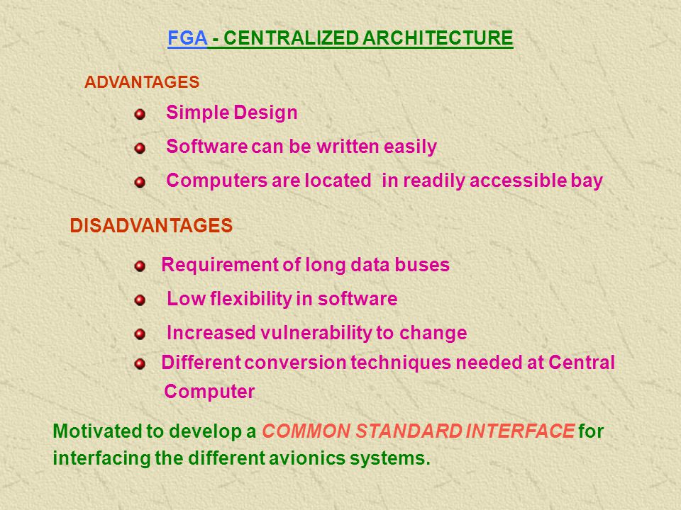FGA - CENTRALIZED ARCHITECTURE