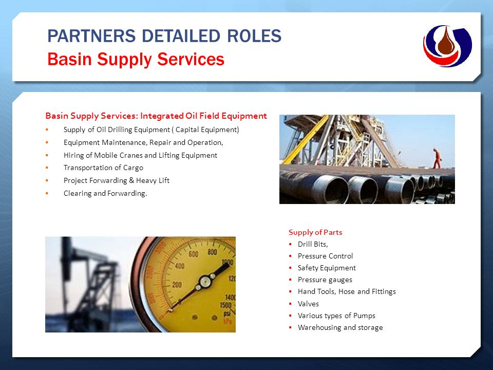 PARTNERS DETAILED ROLES Basin Supply Services