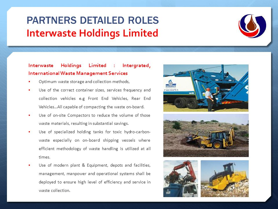 PARTNERS DETAILED ROLES Interwaste Holdings Limited
