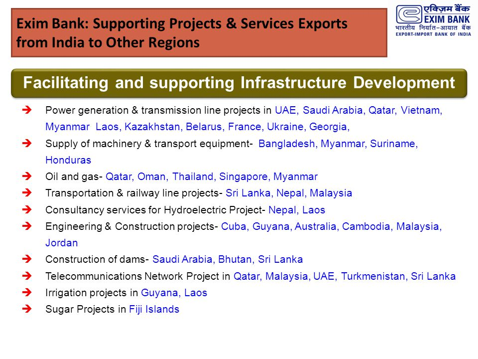 Facilitating and supporting Infrastructure Development