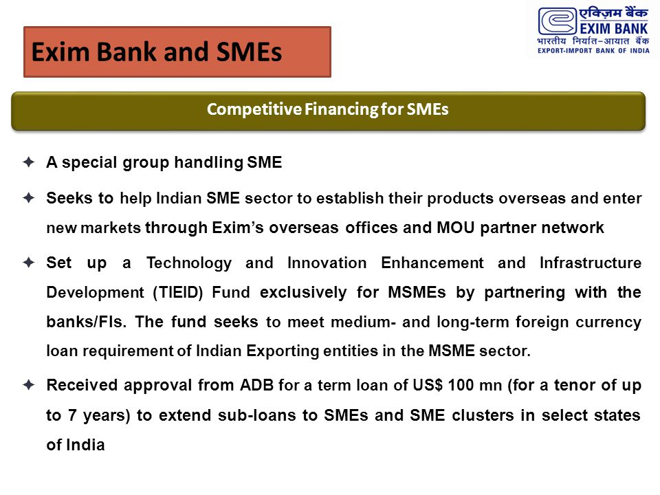 Competitive Financing for SMEs