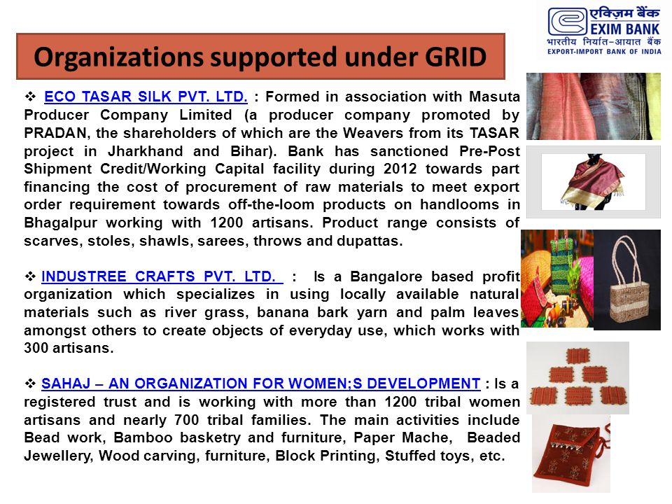 Organizations supported under GRID