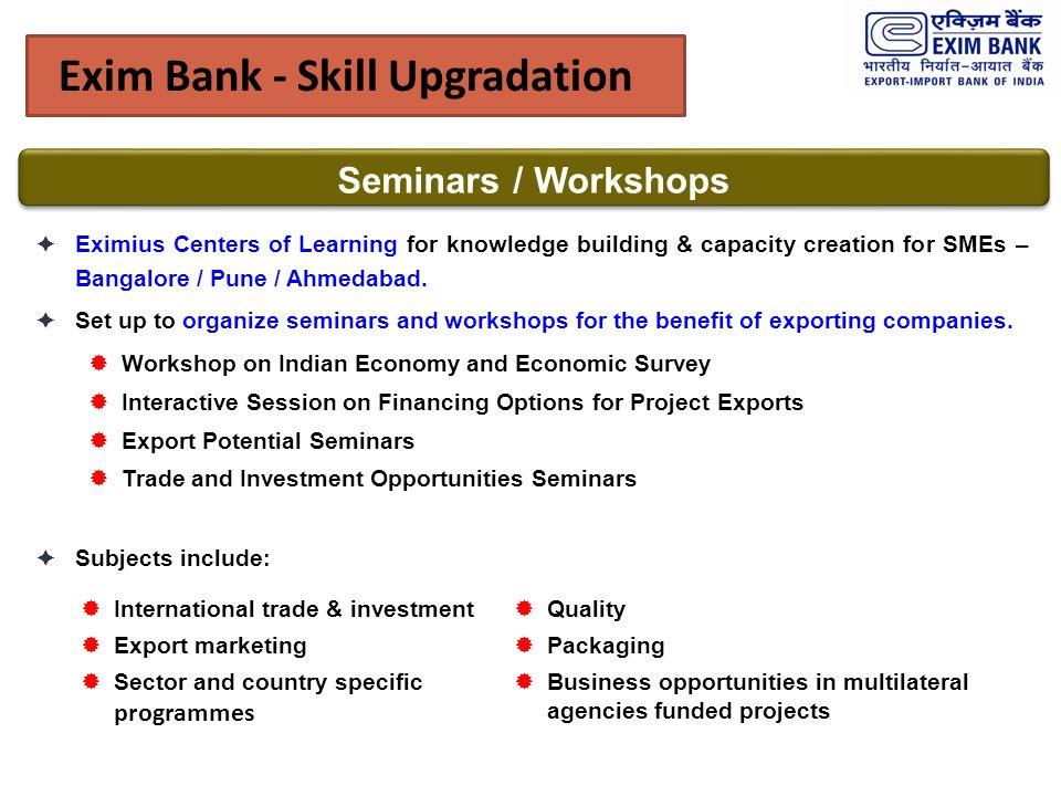 Exim Bank - Skill Upgradation