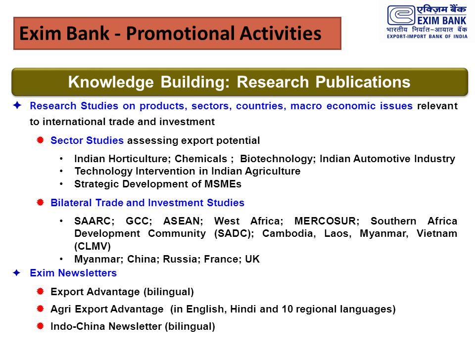 Exim Bank - Promotional Activities