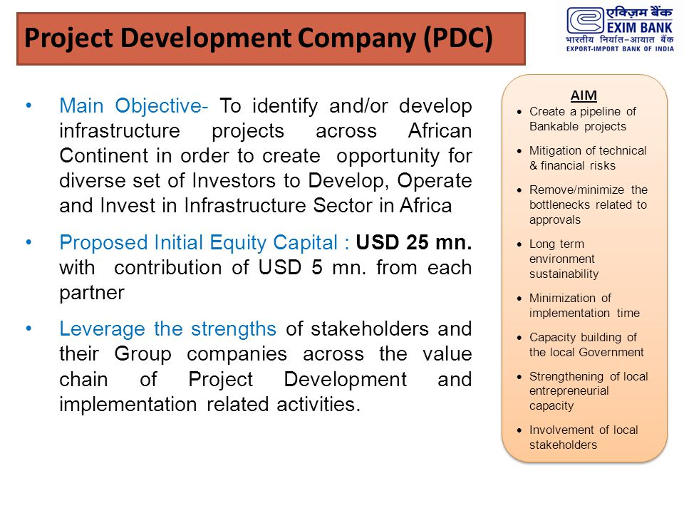 Project Development Company (PDC)