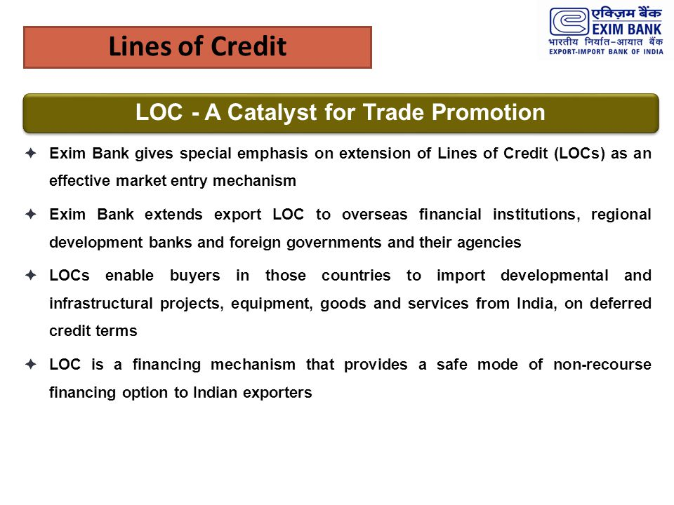 LOC - A Catalyst for Trade Promotion