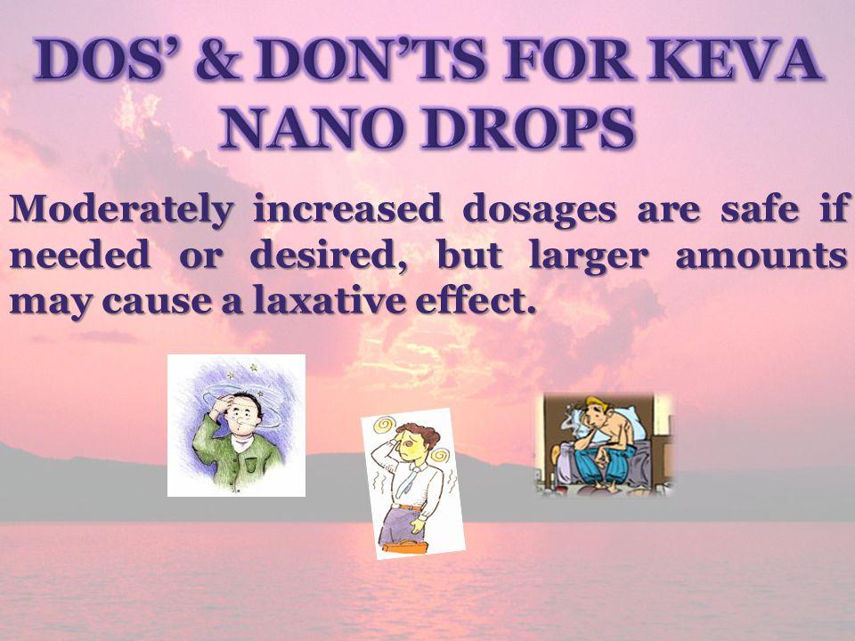 Dos' & Don'ts for Keva Nano Drops