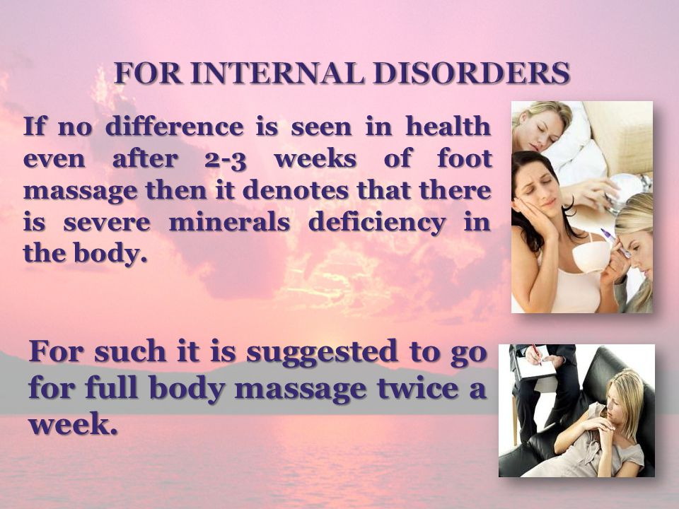 For Internal Disorders