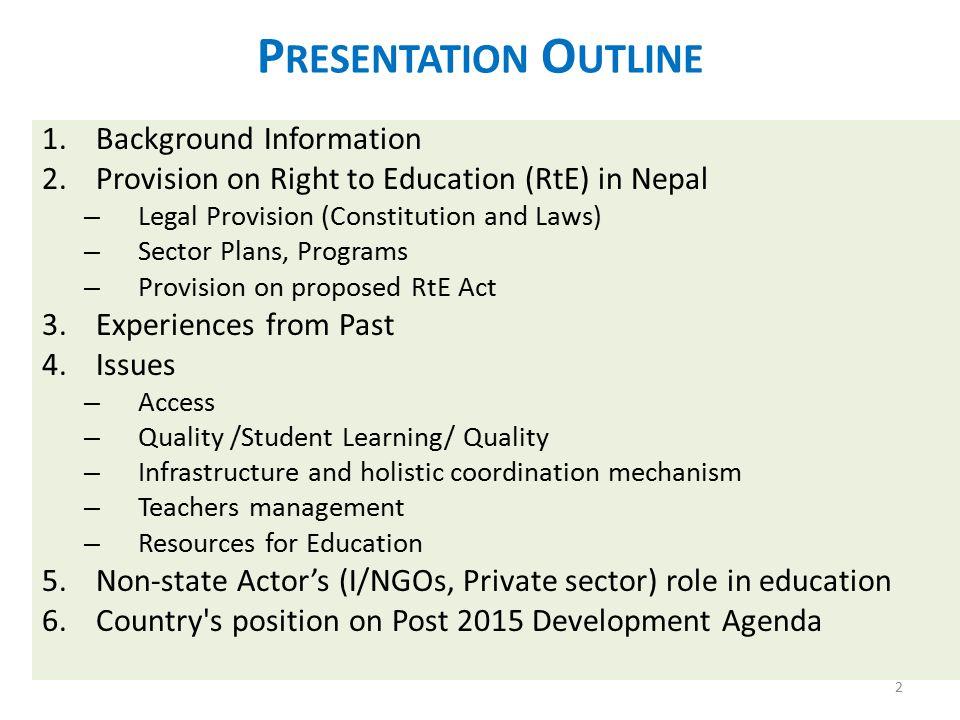 Presentation Outline Background Information