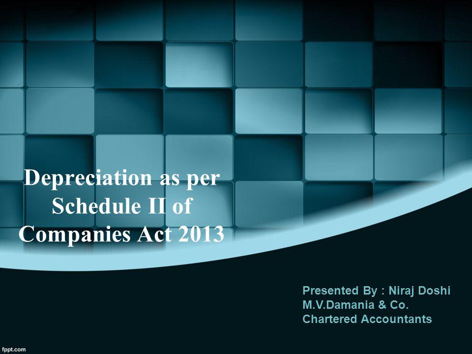 Depreciation as per Schedule II of Companies Act 2013