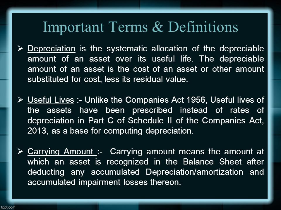 Important Terms & Definitions
