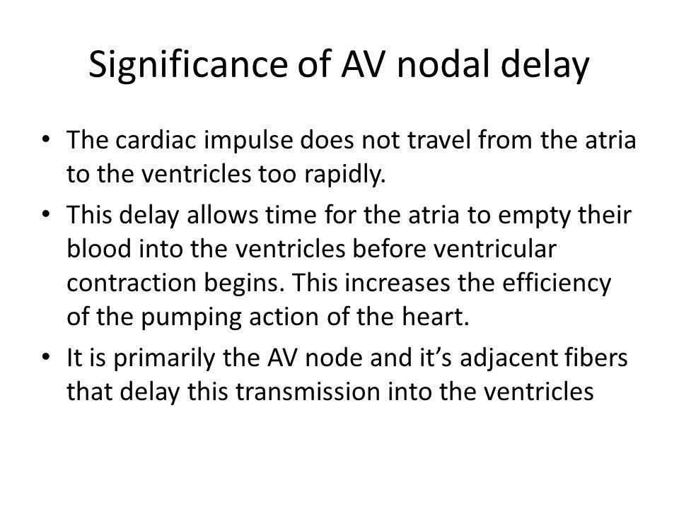 Significance of AV nodal delay