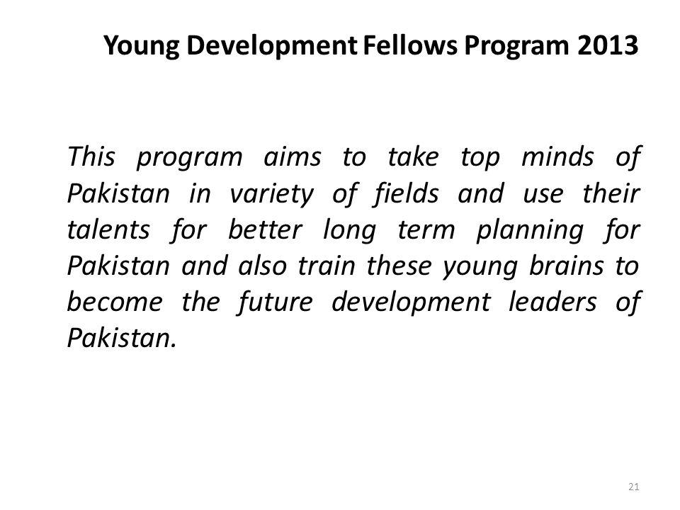 Young Development Fellows Program 2013