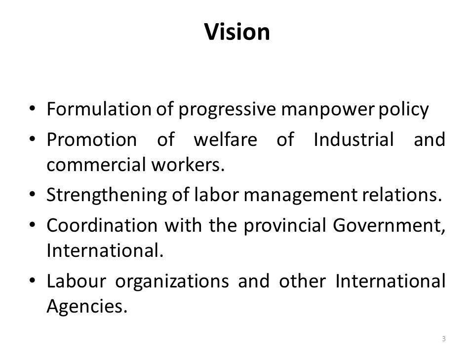 Vision Formulation of progressive manpower policy