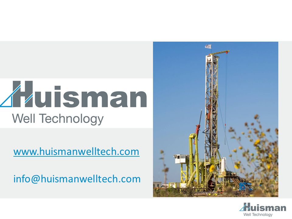www.huismanwelltech.com info@huismanwelltech.com