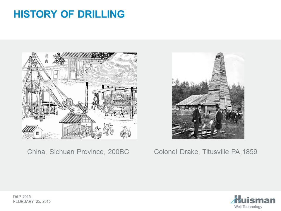 History of drilling China, Sichuan Province, 200BC