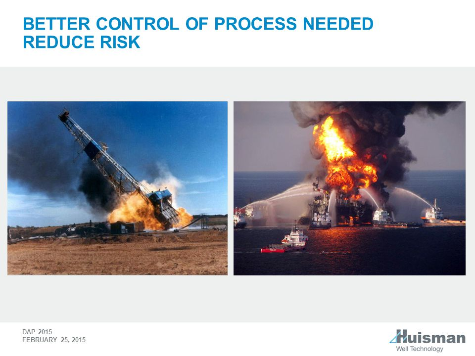 Better Control of process needed Reduce Risk