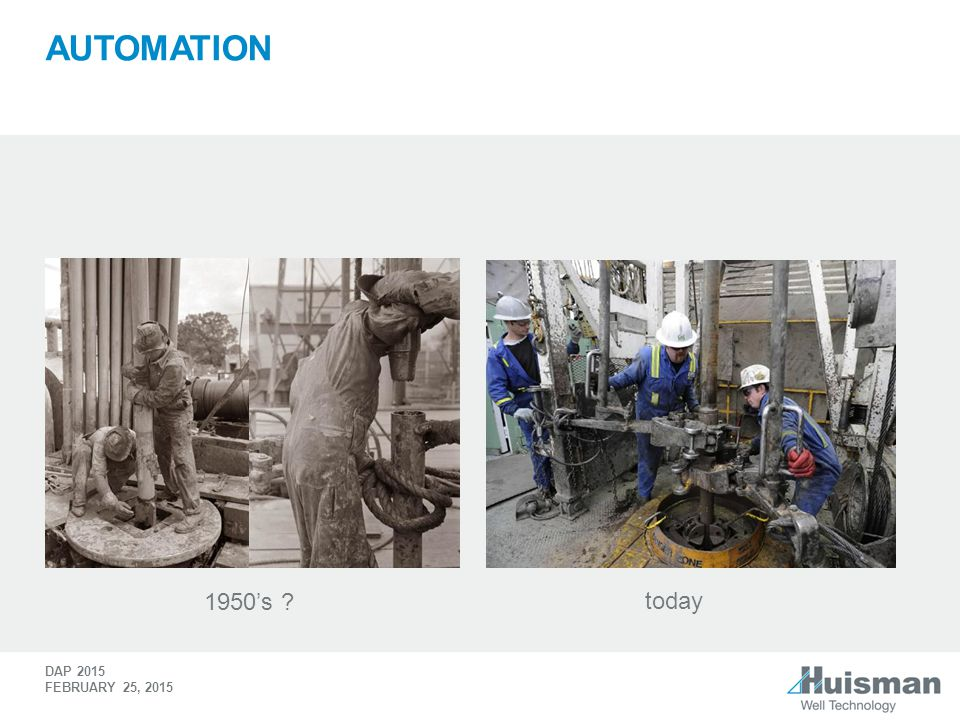 Automation 1950's today WE NEED FURTHER AUTOMATION