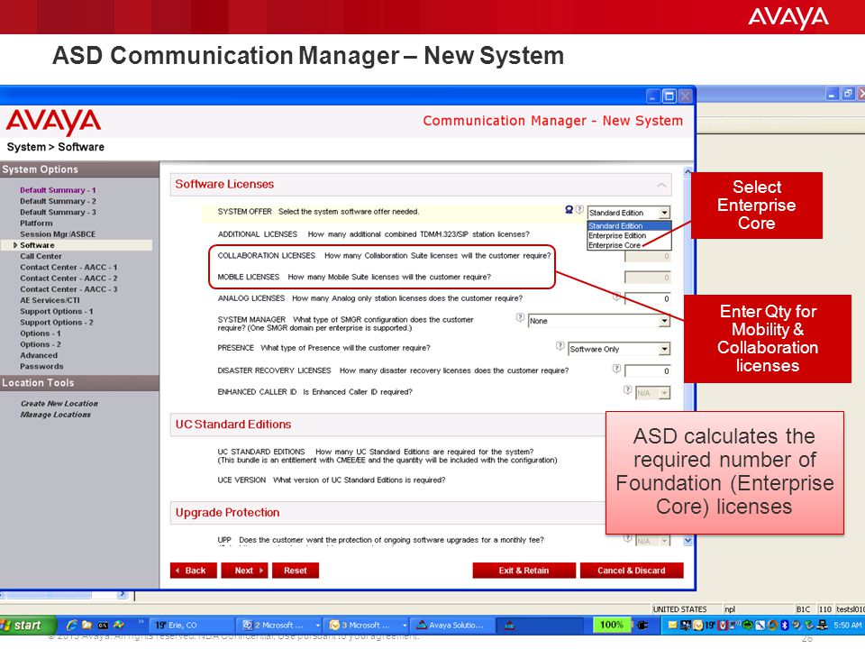 ASD Communication Manager – New System