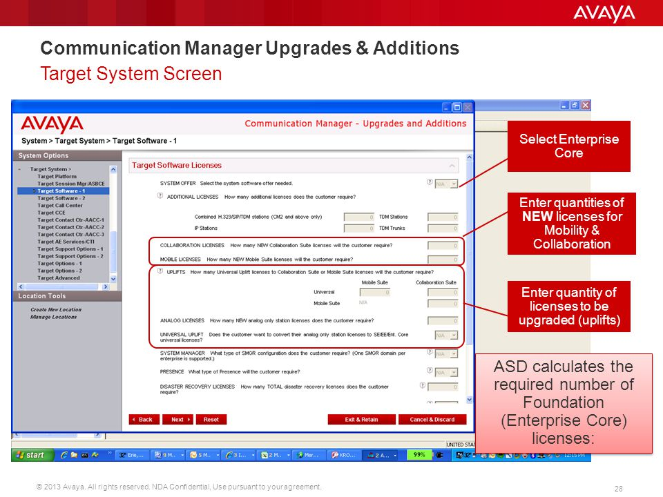 Communication Manager Upgrades & Additions