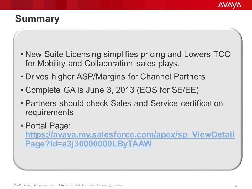 Summary New Suite Licensing simplifies pricing and Lowers TCO for Mobility and Collaboration sales plays.