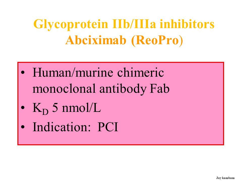 Glycoprotein IIb/IIIa inhibitors Abciximab (ReoPro)
