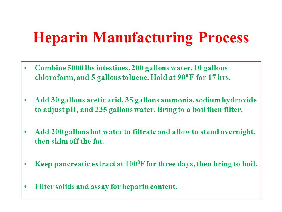 Heparin Manufacturing Process