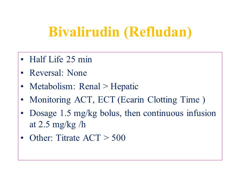 Bivalirudin (Refludan)