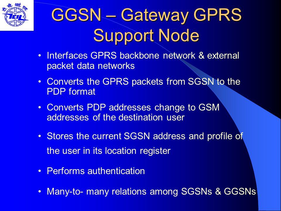 GGSN – Gateway GPRS Support Node