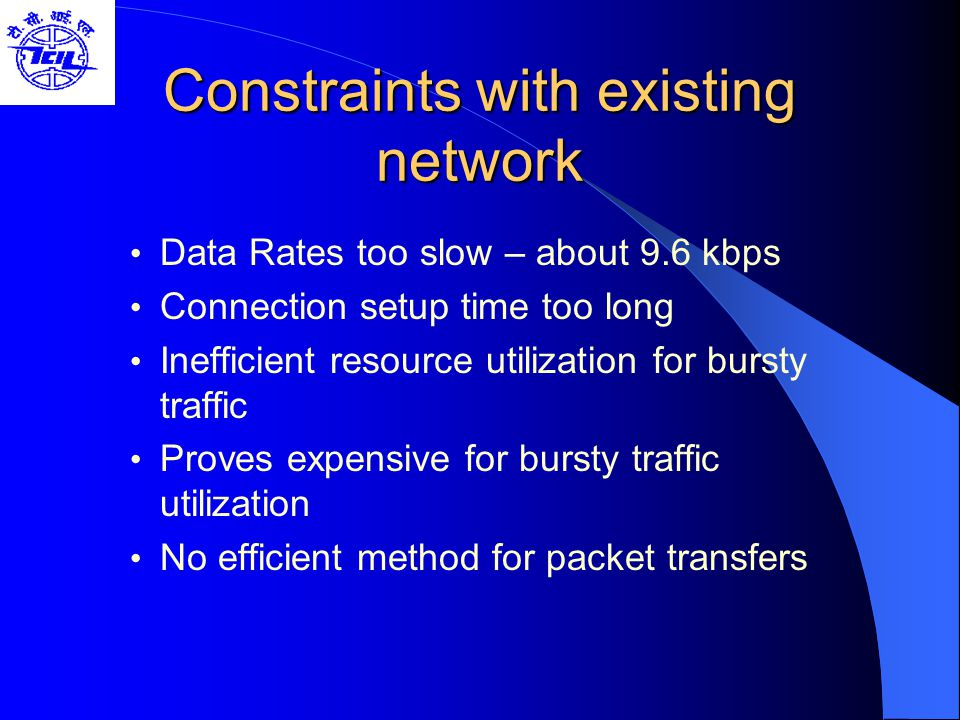 Constraints with existing network