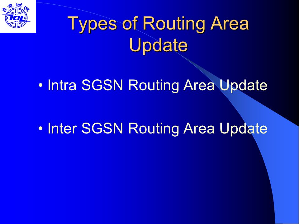 Types of Routing Area Update