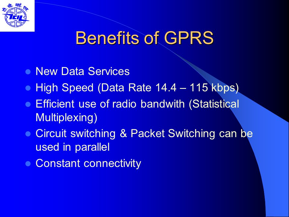 Benefits of GPRS New Data Services