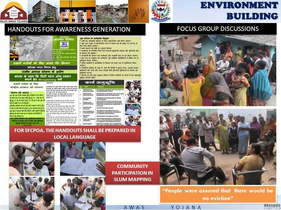 ENVIRONMENT BUILDING HANDOUTS FOR AWARENESS GENERATION