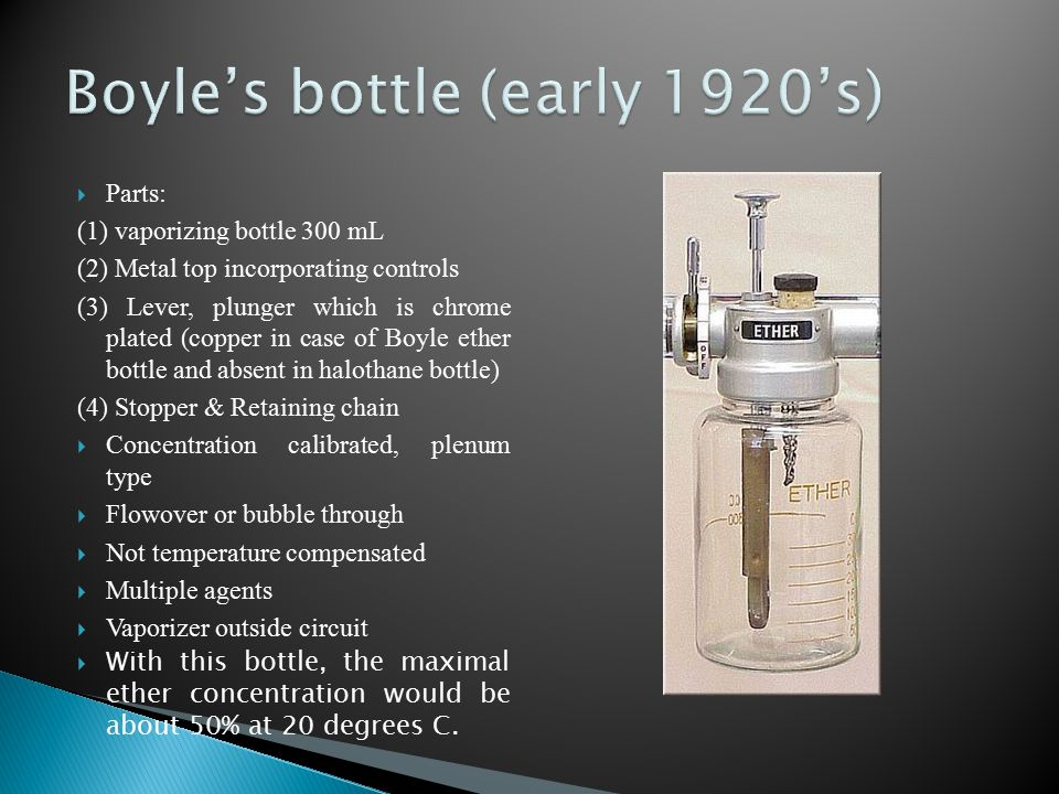 Boyle's bottle (early 1920's)