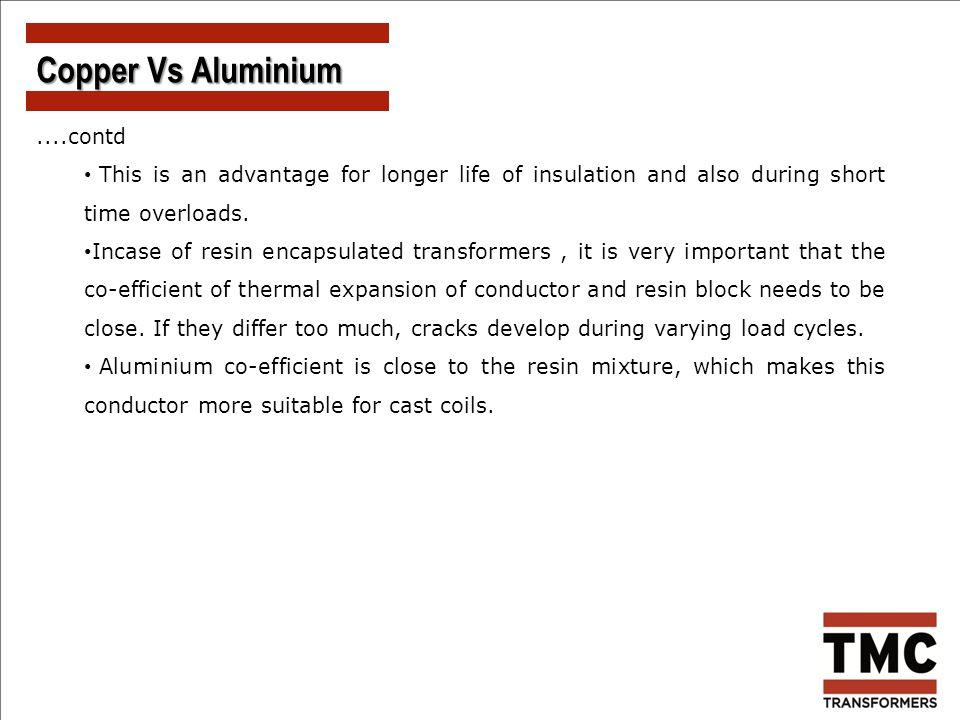 Copper Vs Aluminium ....contd
