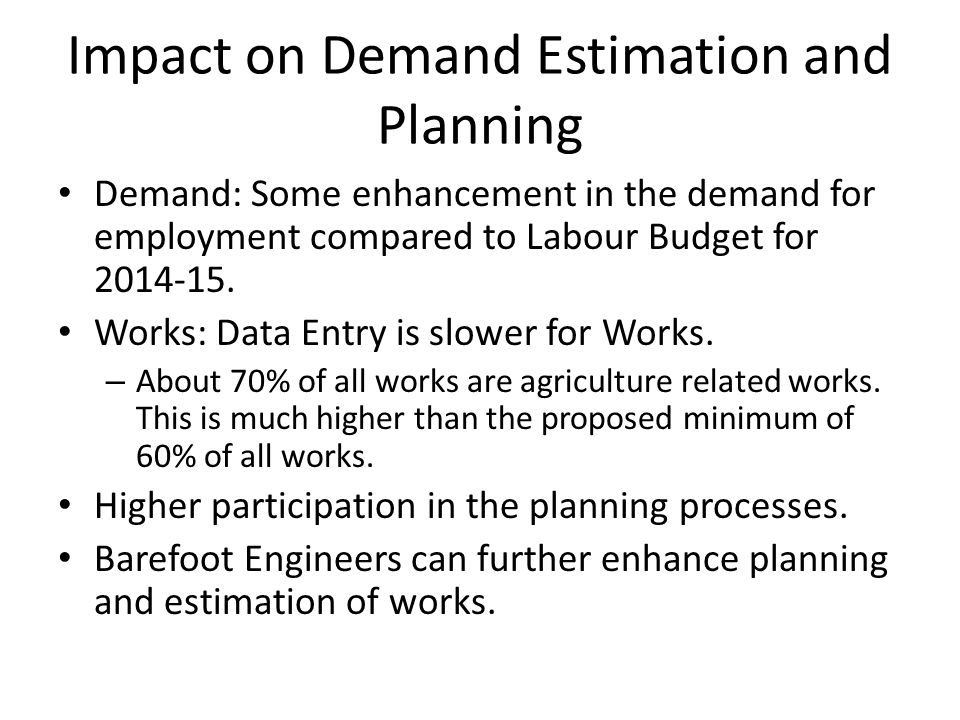 Impact on Demand Estimation and Planning