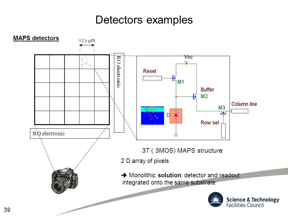 Detectors examples 3T ( 3MOS) MAPS structure MAPS detectors