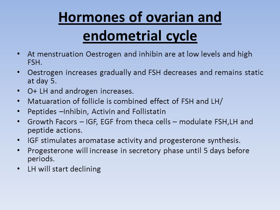 Hormones of ovarian and endometrial cycle