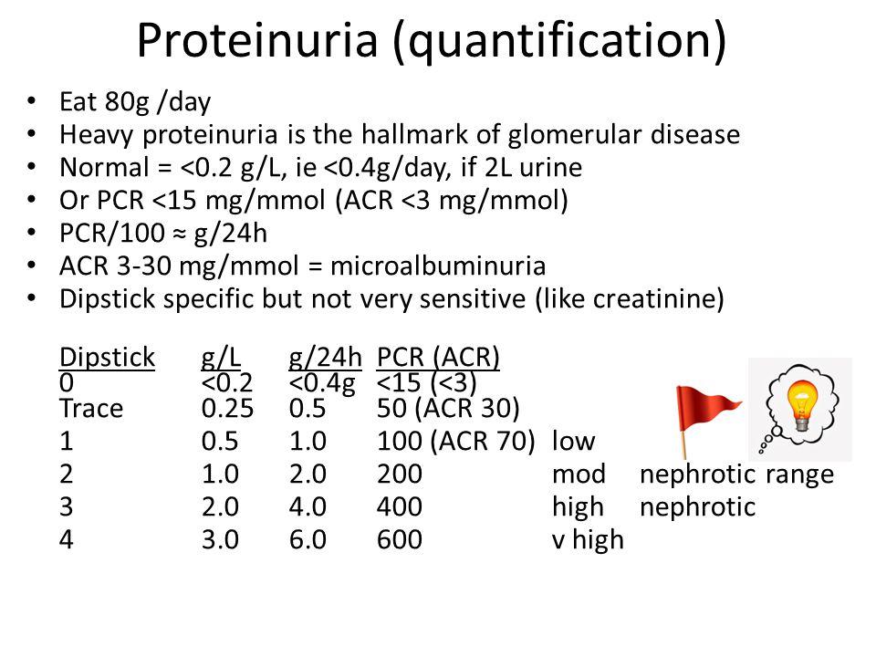 Proteinuria (quantification)