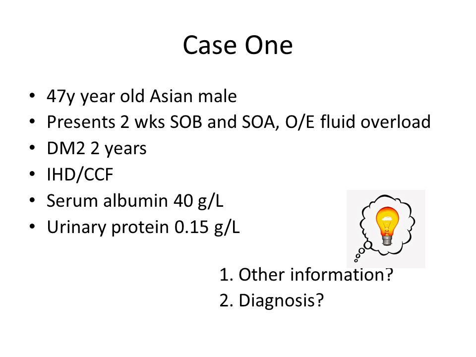 Case One 47y year old Asian male