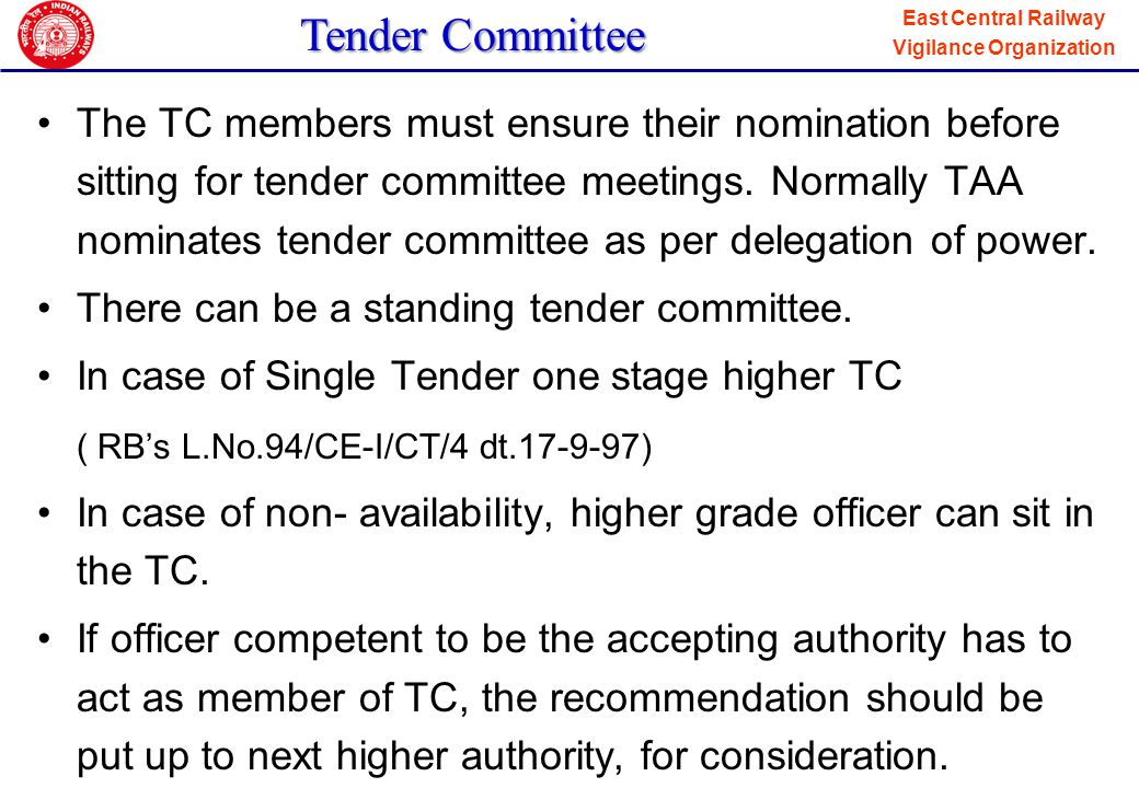 Tender Committee